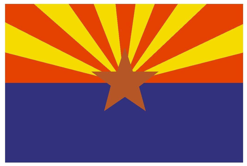 ARIZONA State Flag Vinyl International Flag DECAL Sticker MADE IN USA F32 - Winter Park Products