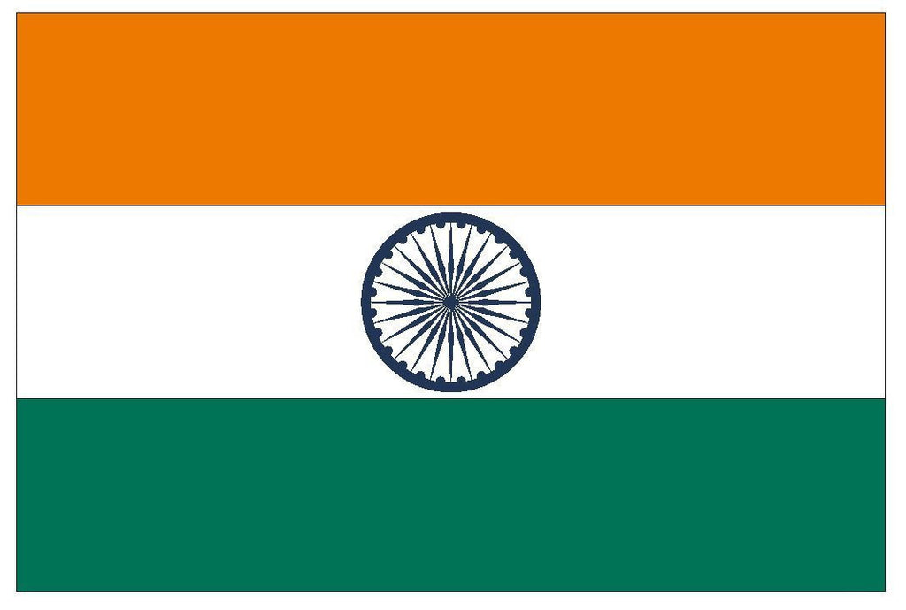 INDIA Vinyl International Flag DECAL Sticker MADE IN THE USA F226 - Winter Park Products