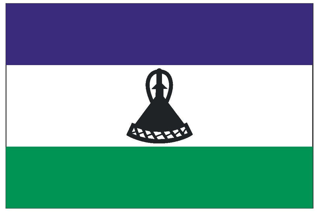 LESOTHO Vinyl International Flag DECAL Sticker MADE IN THE USA F278 - Winter Park Products