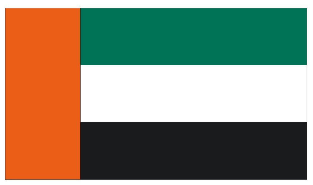 UNITED ARAB EMIRATES Vinyl International Flag DECAL Sticker MADE IN THE USA F528 - Winter Park Products
