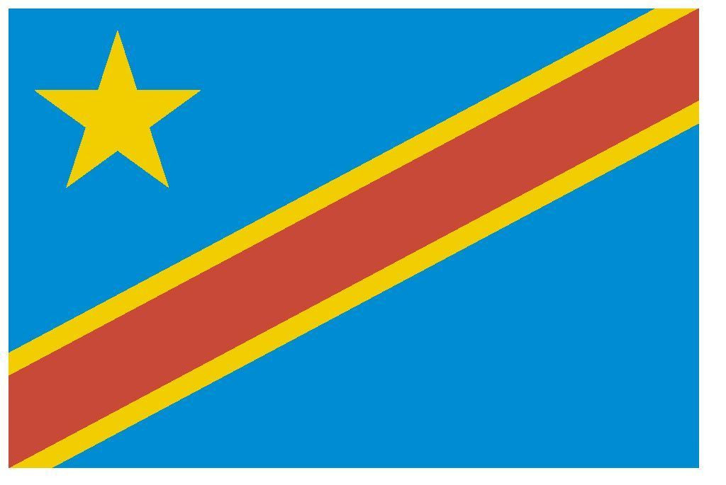 CONGO Vinyl International Flag DECAL Sticker MADE IN THE USA F112 - Winter Park Products