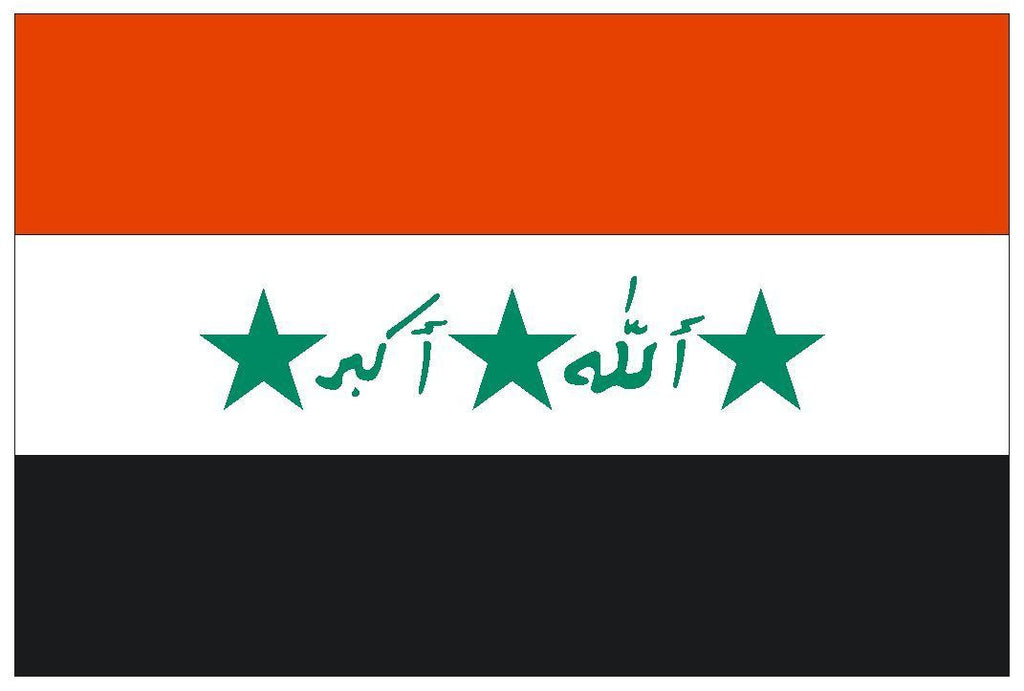 IRAQ IRAK Vinyl International Flag DECAL Sticker MADE IN THE USA F234 - Winter Park Products