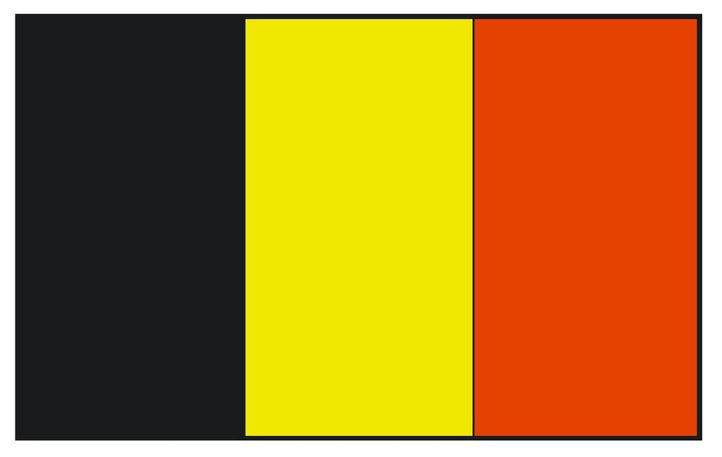 BELGIUM Flag Vinyl International Flag DECAL Sticker MADE IN USA F51 - Winter Park Products