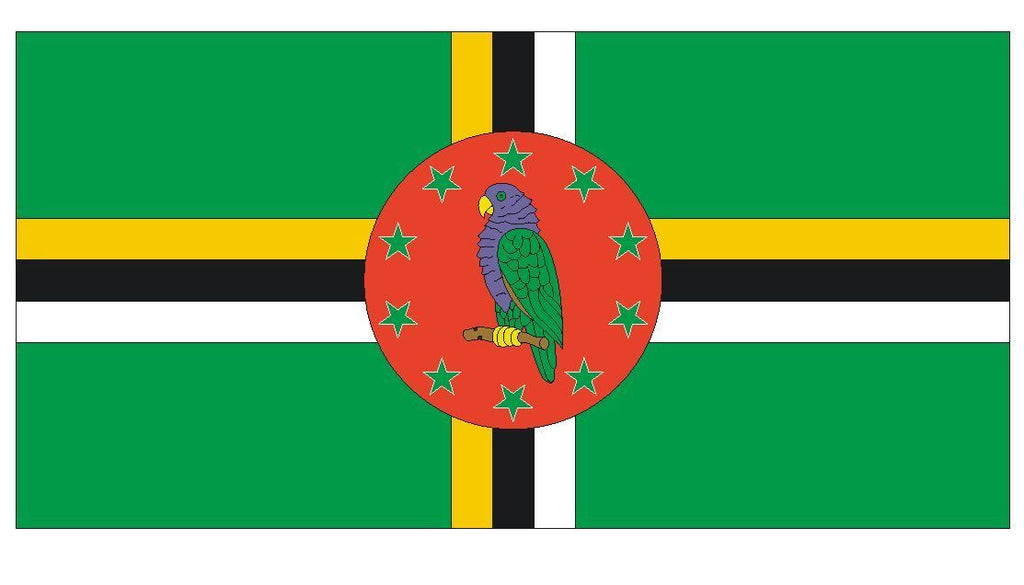 DOMINICA Vinyl International Flag DECAL Sticker MADE IN THE USA F137 - Winter Park Products