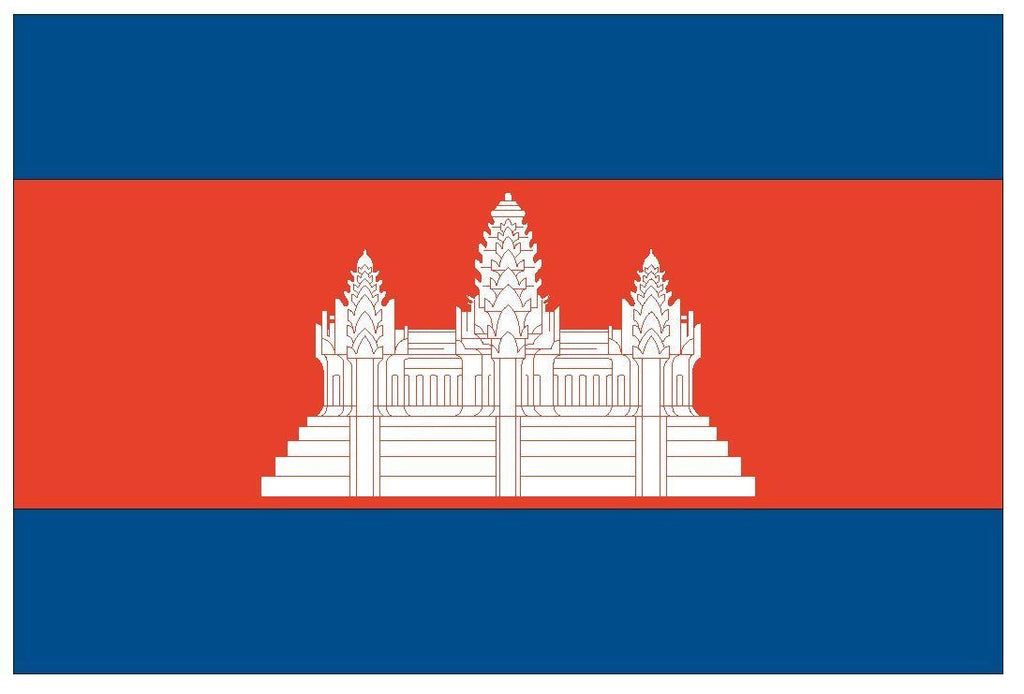CAMBODIA Flag Vinyl International Flag DECAL Sticker MADE IN USA F81 - Winter Park Products
