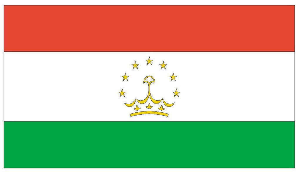 TAJIKISTAN Vinyl International Flag DECAL Sticker MADE IN THE USA F491 - Winter Park Products
