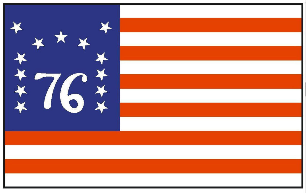Historical BENNINGTON Flag Sticker Decal MADE IN USA F54 - Winter Park Products