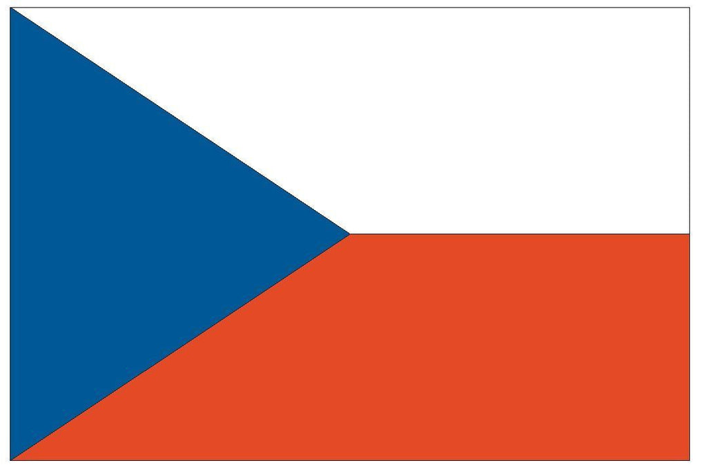 CZECH REPUBLIC Vinyl International Flag DECAL Sticker MADE IN THE USA F129 - Winter Park Products