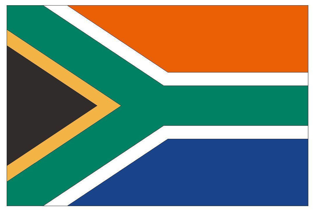 SOUTH AFRICA Vinyl International Flag DECAL Sticker MADE IN THE USA F468 - Winter Park Products