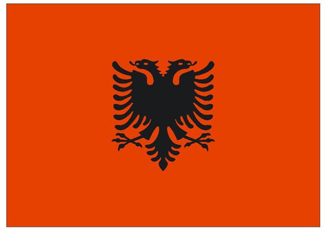 ALBANIA Flag Vinyl International Flag DECAL Sticker MADE IN USA F16 - Winter Park Products