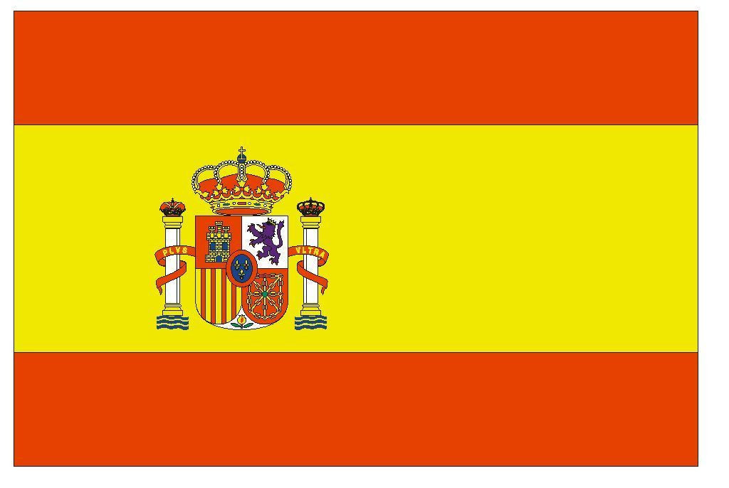 SPAIN Vinyl International Flag DECAL Sticker MADE IN THE USA F479 - Winter Park Products