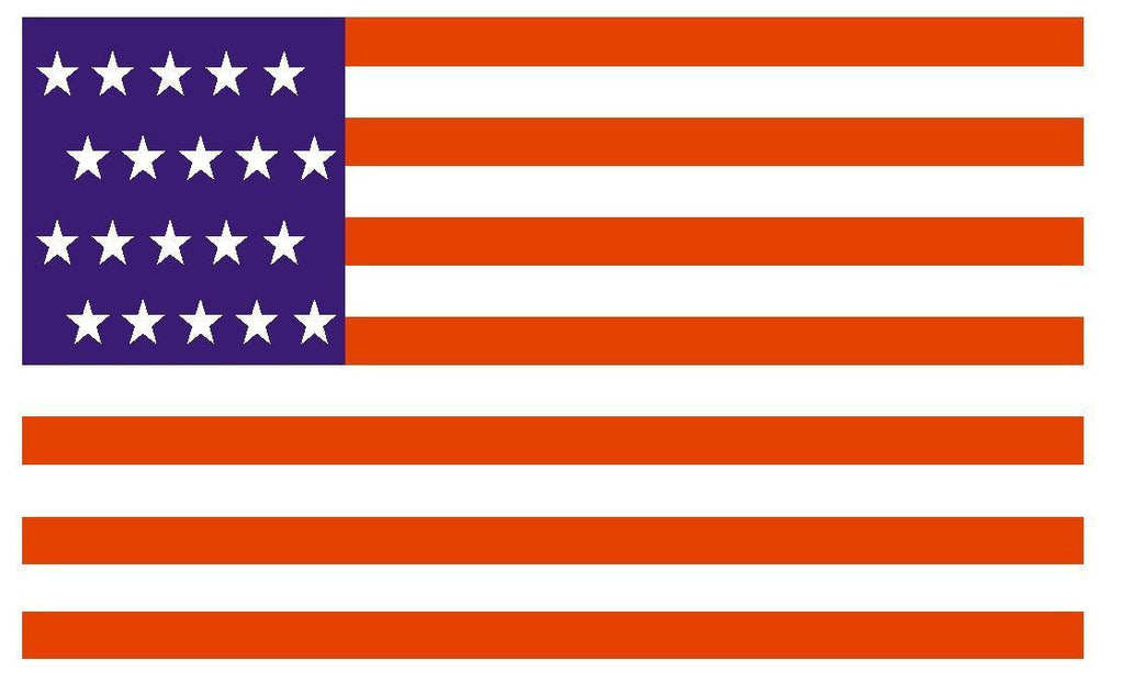 UNITED STATES 1818 Flag Sticker Decal F533 - Winter Park Products
