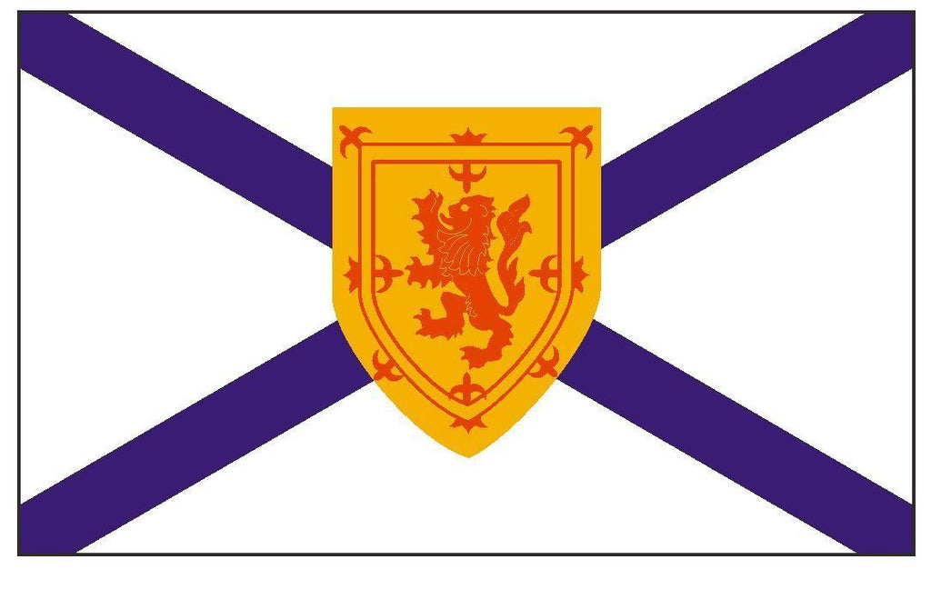 NOVA SCOTIA Vinyl International Flag DECAL Sticker MADE IN USA F366 - Winter Park Products