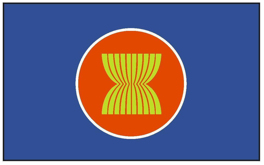 ASEAN Flag Vinyl International Flag DECAL Sticker MADE IN USA F36 - Winter Park Products