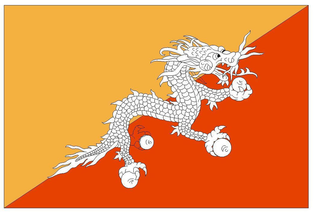 BHUTAN Flag Vinyl International Flag DECAL Sticker MADE IN USA F57 - Winter Park Products
