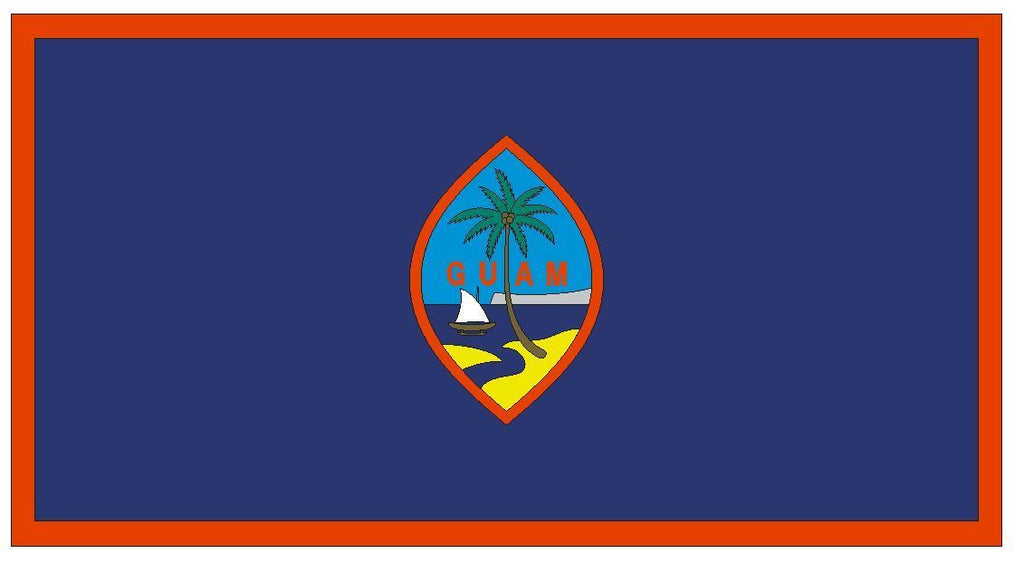 GUAM Vinyl International Flag DECAL Sticker MADE IN THE USA F198 - Winter Park Products