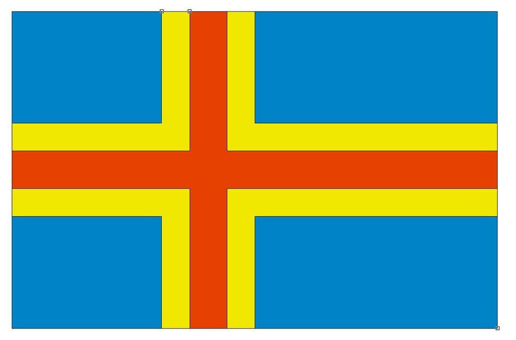 ALAND ISLANDS Flag Vinyl International Flag DECAL Sticker MADE IN USA F13 - Winter Park Products