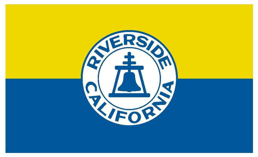 RIVERSIDE California Vinyl City Flag DECAL Sticker MADE IN THE USA F420 - Winter Park Products