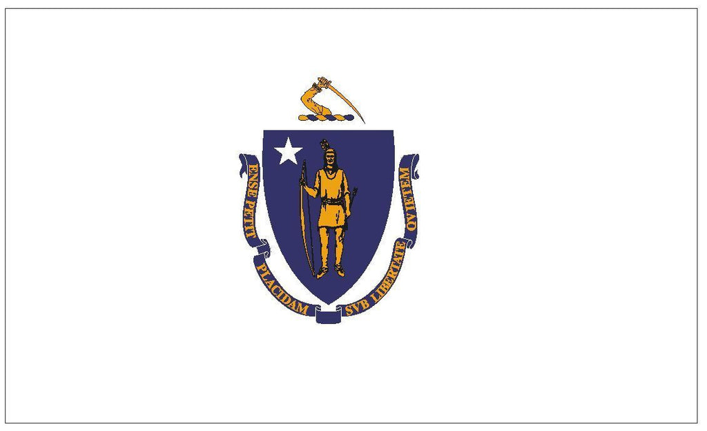 MASSACHUSETTS Vinyl State Flag DECAL Sticker MADE IN USA F328 - Winter Park Products