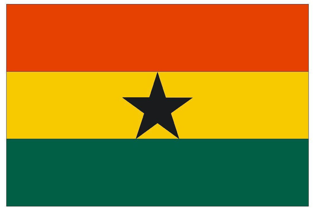 GHANA Vinyl International Flag DECAL Sticker MADE IN THE USA F192 - Winter Park Products