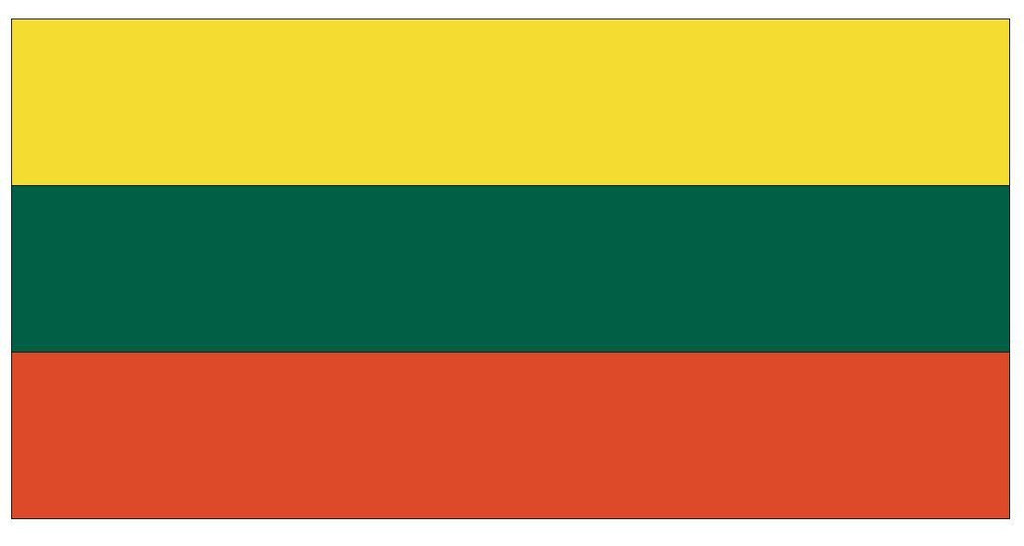 LITHUANIA Vinyl International Flag DECAL Sticker MADE IN THE USA F285 - Winter Park Products