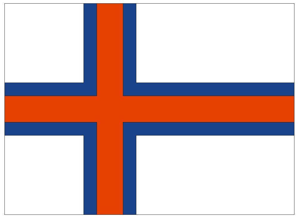 FAROE ISLANDS Vinyl International Flag DECAL Sticker MADE IN THE USA F162 - Winter Park Products