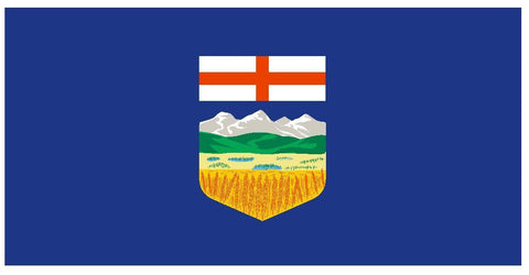 ALBERTA Flag Vinyl International Flag DECAL Sticker MADE IN USA F17 - Winter Park Products