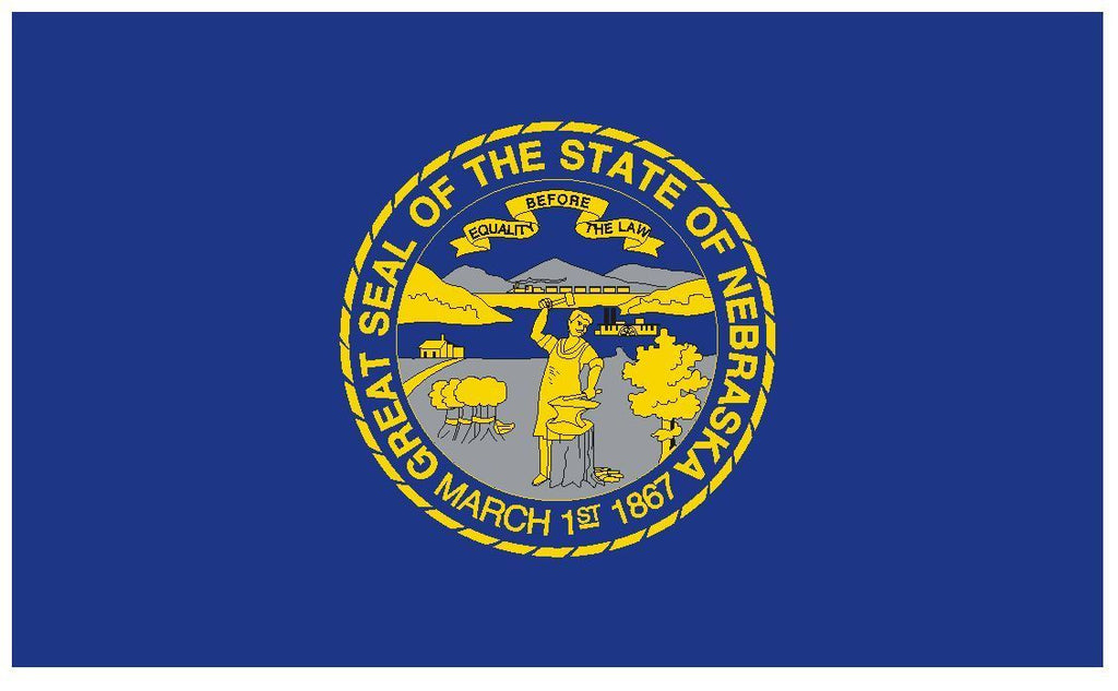 NEBRASKA Vinyl State Flag DECAL Sticker MADE IN THE USA F336 - Winter Park Products