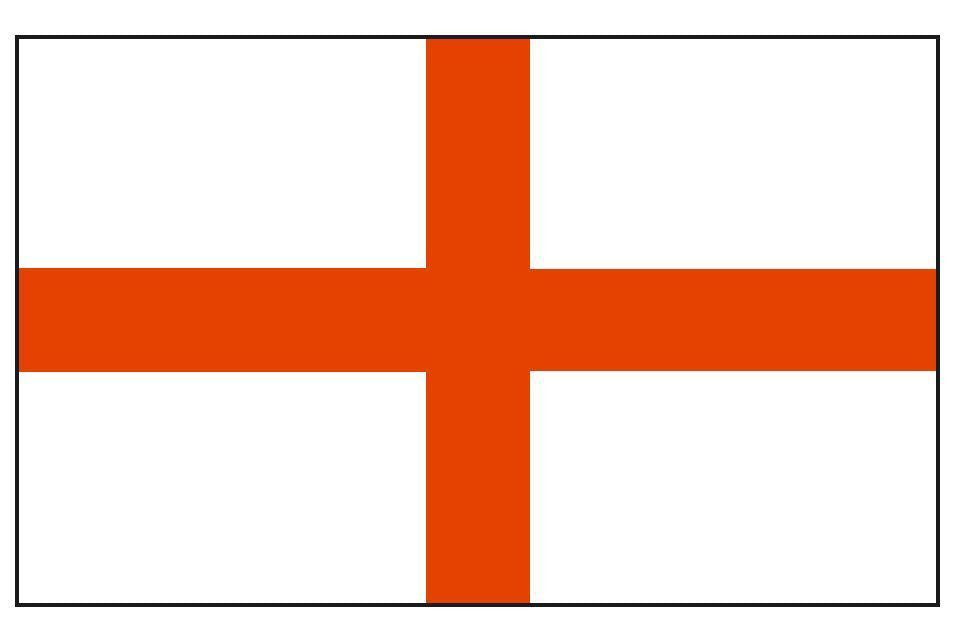SAINT GEORGE'S CROSS Vinyl International Flag DECAL Sticker MADE IN THE USA F429 - Winter Park Products