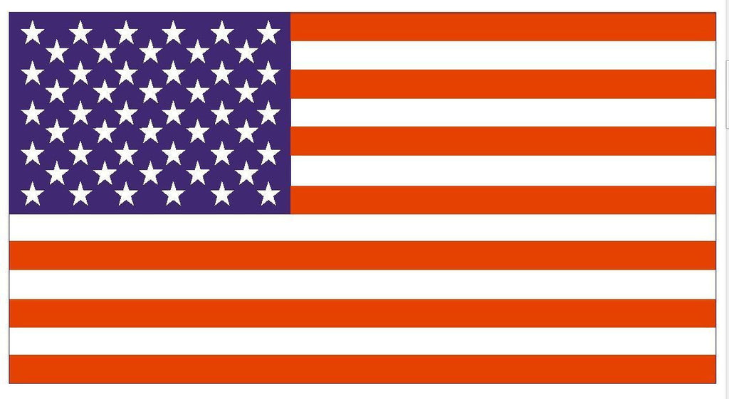 USA UNITED STATES OF AMERICA FLAG DECAL STICKER MADE IN USA FREE SHIPPING F01 - Winter Park Products