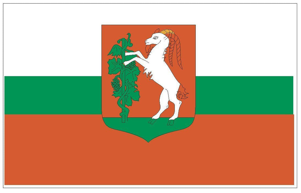 LUBLIN Poland Vinyl International Flag DECAL Sticker MADE IN THE USA F289 - Winter Park Products