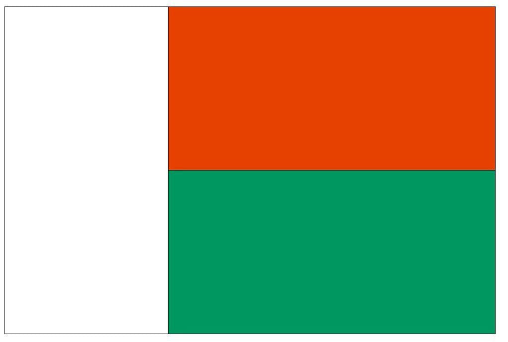 MADAGASCAR Vinyl International Flag DECAL Sticker MADE IN THE USA F293 - Winter Park Products