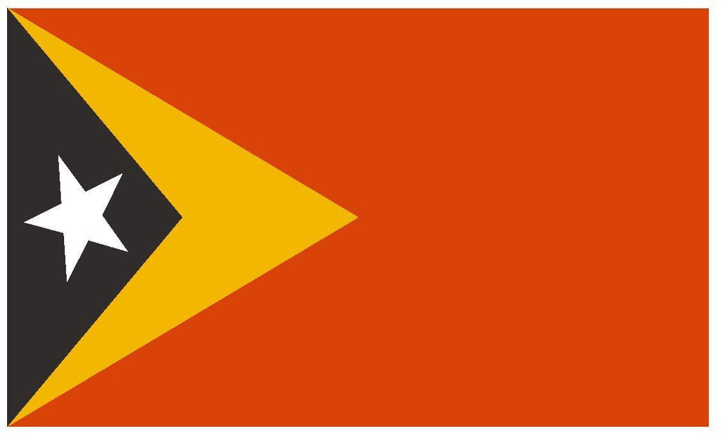 TIMOR LESTE Vinyl International Flag DECAL Sticker MADE IN THE USA F507 - Winter Park Products