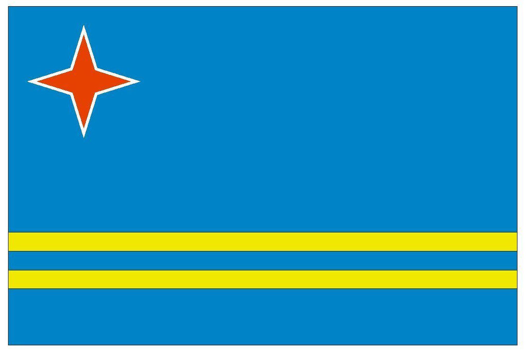 ARUBA Flag Vinyl International Flag DECAL Sticker MADE IN USA F35 - Winter Park Products