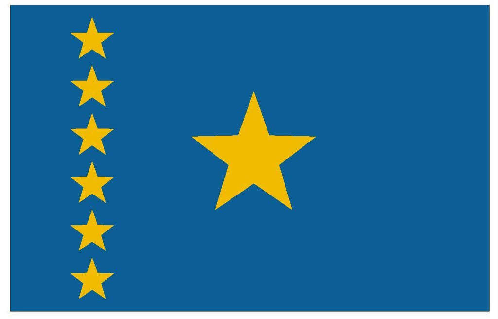CONGO Vinyl International Flag DECAL Sticker MADE IN THE USA F113 - Winter Park Products
