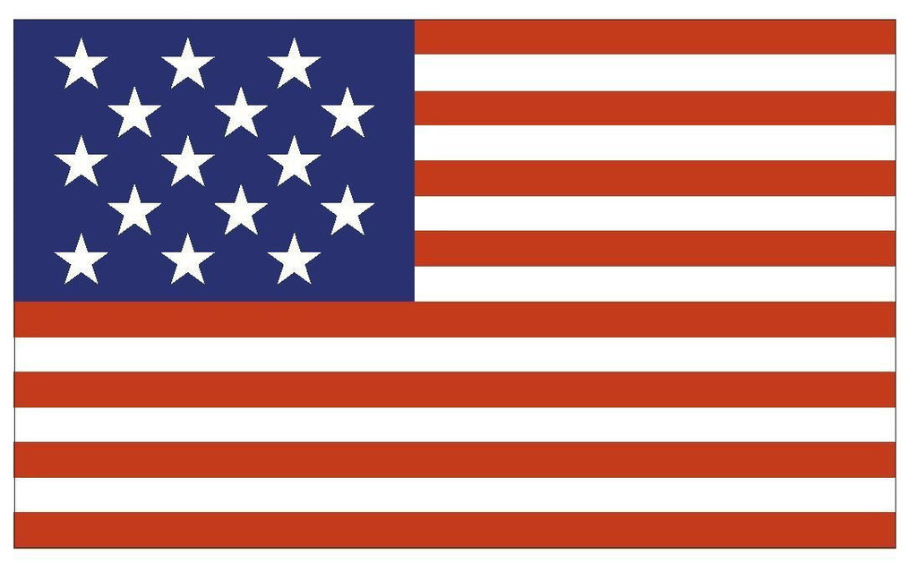 United States Historic 15 Star Flag Sticker Decal F596 - Winter Park Products