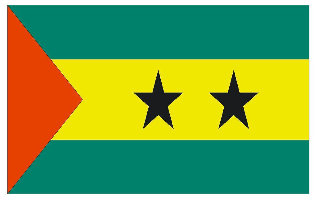 SAO TOME AND PRINCIPE Vinyl International Flag DECAL Sticker USA MADE F442 - Winter Park Products