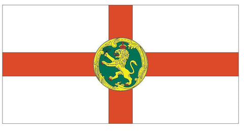 ALDERNEY Flag Vinyl International Flag DECAL Sticker MADE IN USA F18 - Winter Park Products