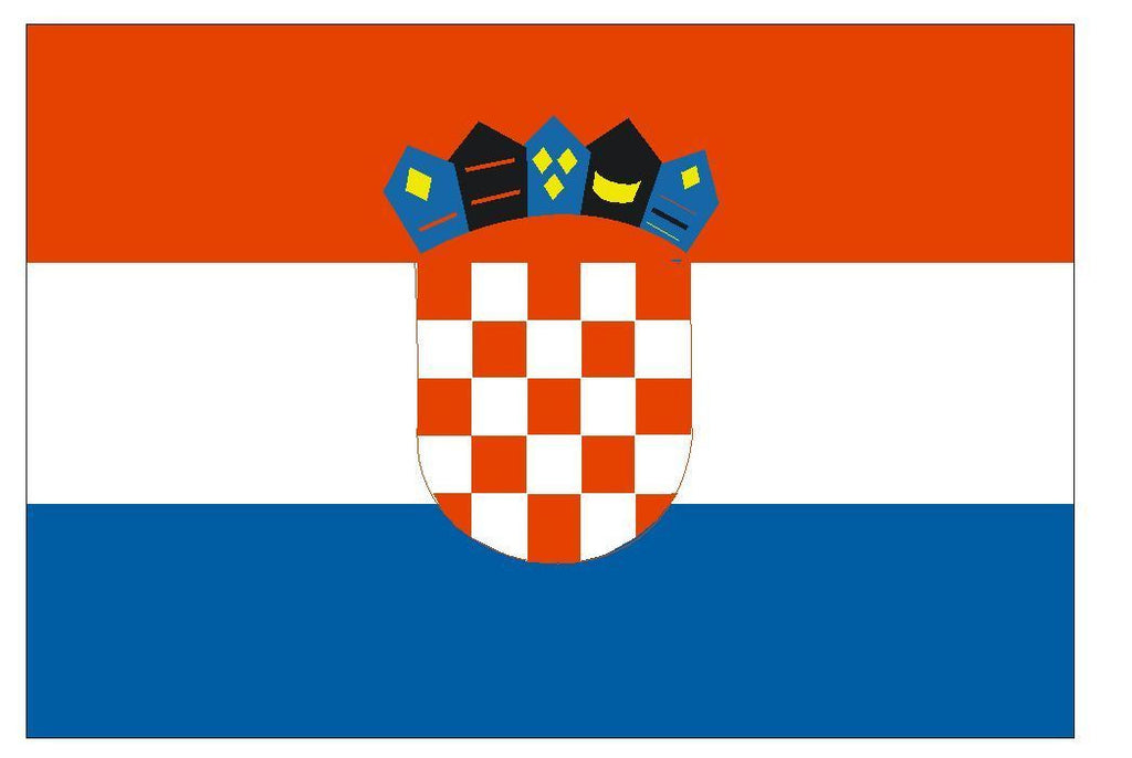 CROATIA Vinyl International Flag DECAL Sticker MADE IN THE USA F125 - Winter Park Products
