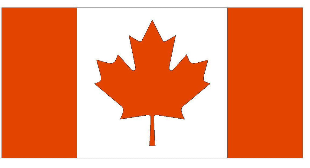 CANADA Flag Vinyl International Flag DECAL Sticker MADE IN USA F83 - Winter Park Products