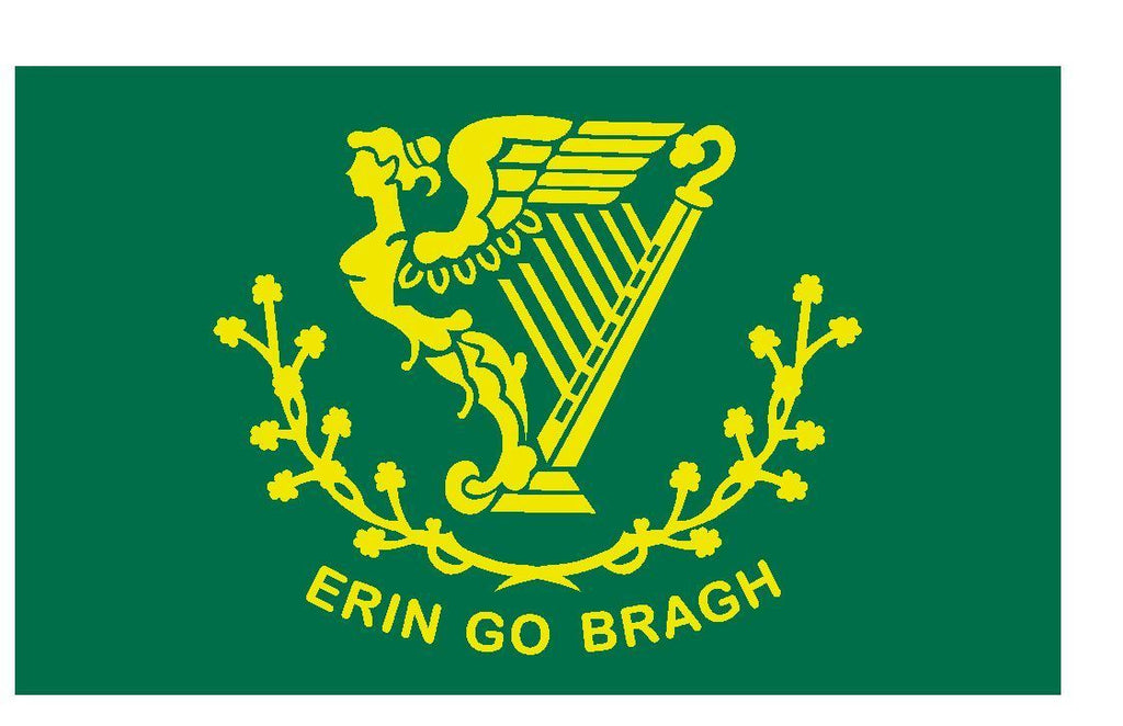 Irish Erin Go Bragh Flag Vinyl DECAL Sticker MADE IN THE USA F606 - Winter Park Products