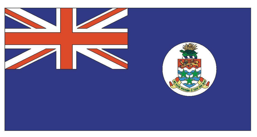 CAYMAN ISLANDS Flag Vinyl International Flag DECAL Sticker MADE IN USA F89 - Winter Park Products