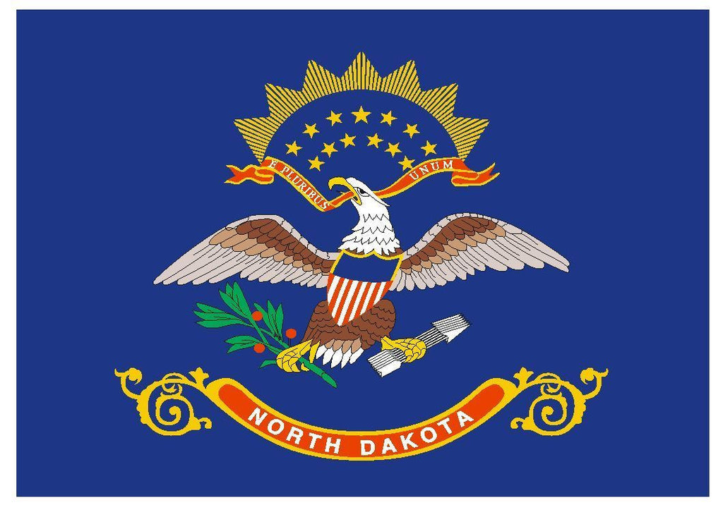 NORTH DAKOTA Vinyl State Flag DECAL Sticker USA MADE F357 - Winter Park Products