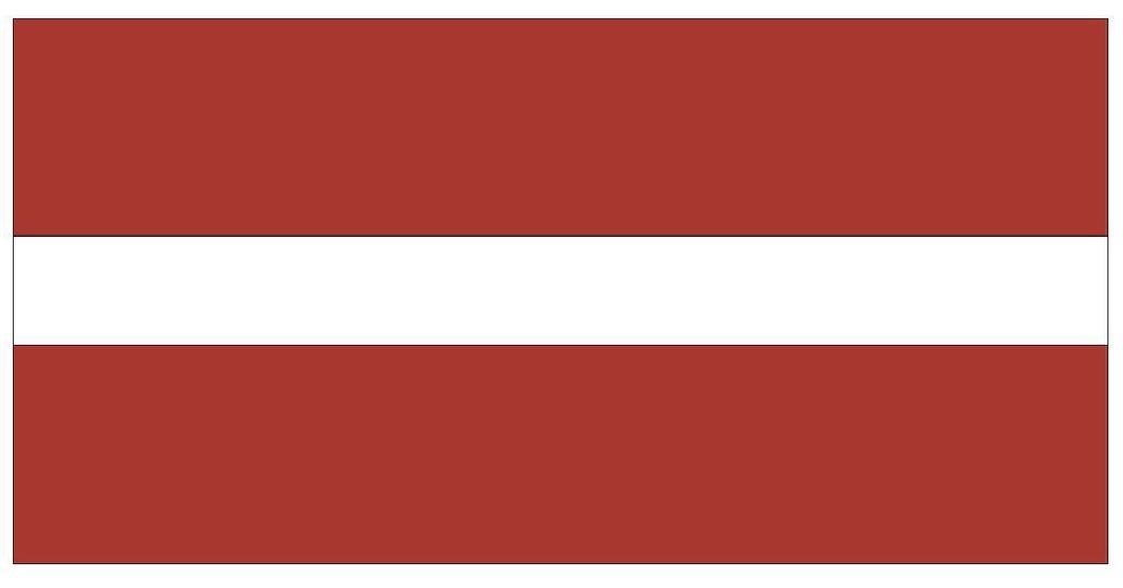 LATVIA Vinyl International Flag DECAL Sticker MADE IN THE USA F272 - Winter Park Products