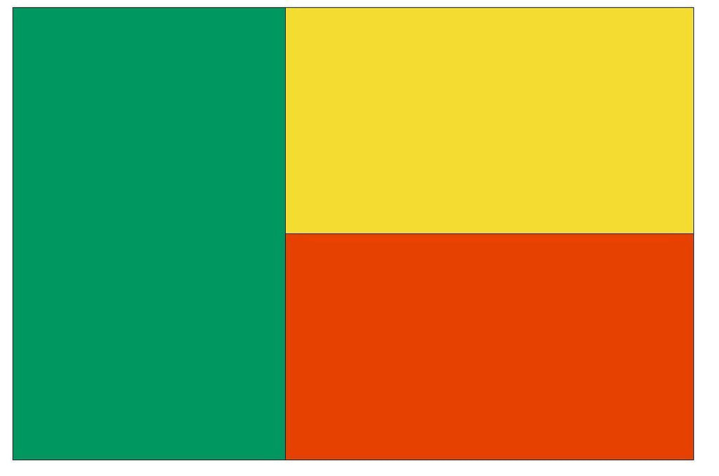 BENIN Flag Vinyl International Flag DECAL Sticker MADE IN USA F53 - Winter Park Products