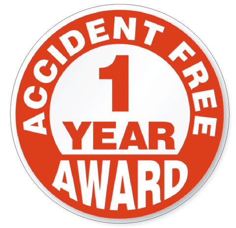 Accident Free 1 Year Award Hard Hat Decal Hard Hat Sticker Helmet Safety H48 - Winter Park Products