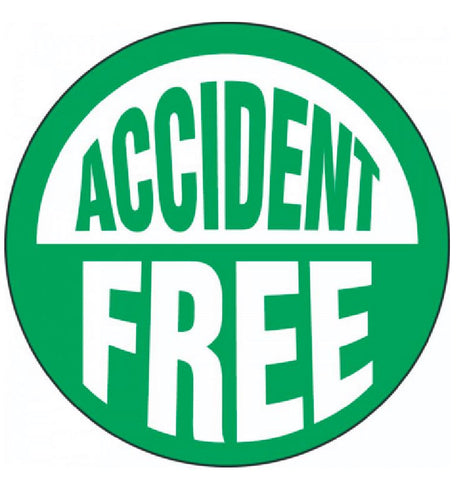 Accident Free Hard Hat Decal Hardhat Sticker Helmet Label H150 - Winter Park Products