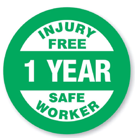 1 Year Safe Worker Award Hard Hat Decal Hardhat Sticker Helmet Label H112 - Winter Park Products