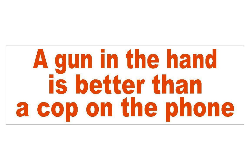 Anti Obama Cop on the phone Gun Control Bumper Sticker or Helmet Sticker D292 - Winter Park Products