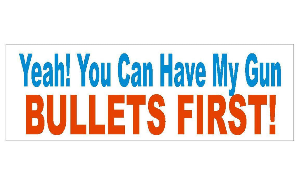 Anti Obama Anti Gun Control Political Bumper Sticker MADE IN THE USA D288 - Winter Park Products